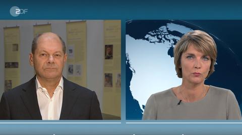"""Olaf Scholz im Gespräch mit Marietta Slomka: """"Herr Seehofer freut sich, dass da jetzt eine gute Lösung gefunden wurde"""""""