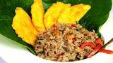 Gallo Pinto, Reis mit schwarzen Bohnen werden in Costa Rica nicht nur zum Frühstückgegessen.