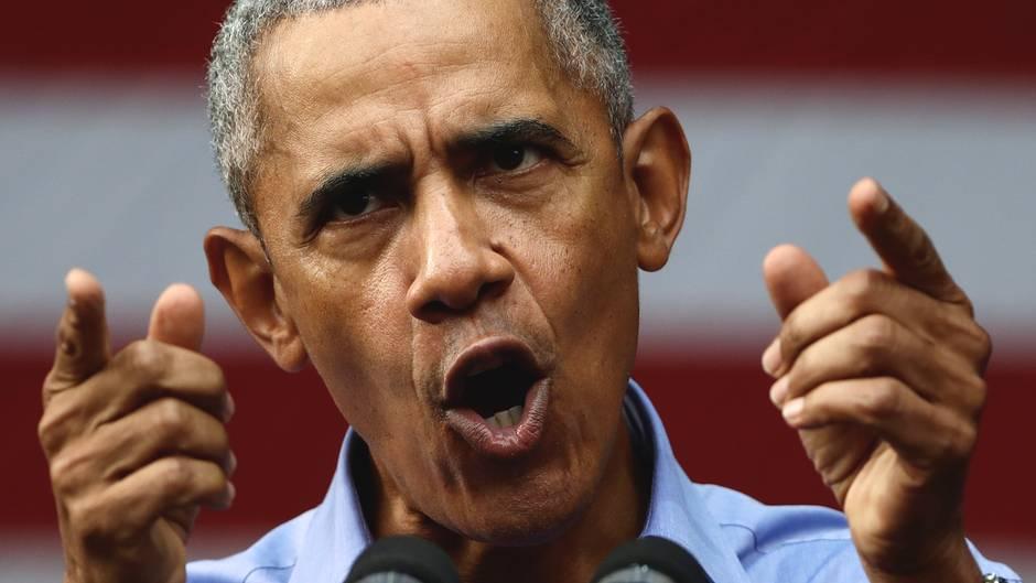 Ex-US-Präsident Barack Obama auf einer Wahlkampfveranstaltung in Philadelphia
