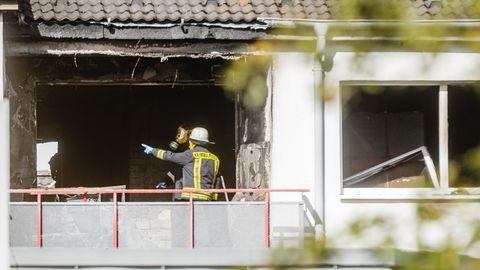 Die ausgebrannte Wohnung in Hamburg-Eißendorf