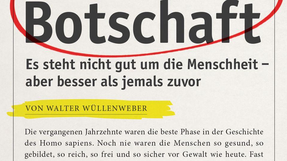 """Buch """"Frohe Botschaft"""": Den Deutschen geht es bestens - warum wir trotzdem eher das Negative wahrnehmen"""