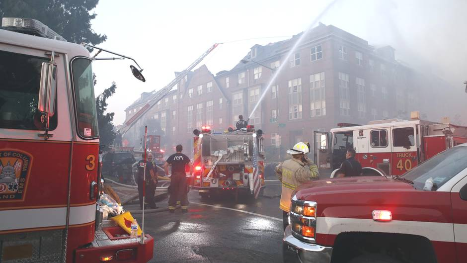 Feuerwehreinsatz am Arthur-Capper-Altenheim in Washington am 19. September