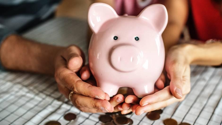 Rente Rentenversicherung Sparschwein