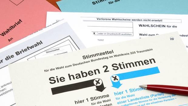 Stimmzettel Wahlen
