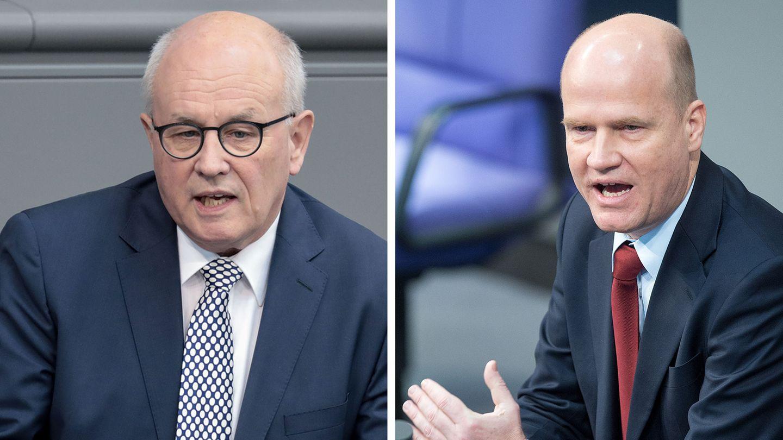 Volker Kauder (l.) und sein Nachfolger als Vorsitzender der CDU-/CSU-Fraktion, Ralph Brinkhaus