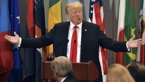 US-Präsident Donald Trump redete vor der UN-Vollversammlung wie bei einer Wahlkampfveranstaltung