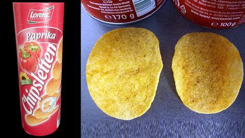 September 2018: Lorenz Snack-World hat die Füllmenge seiner Chipsletten drastisch reduziert - von 170 Gramm auf 100 Gramm. Damit dies nicht so auffällt, griff man zu einem ganz besonderen Trick: Die Röhrenchips wurden in Umfang und Gewichtgeschrumpft (1,6 statt 2 Gramm) sowiedie Verpackung leicht geändert.Da der Preis im Ladennur geringfügig reduziert wurde oder sogar gleich blieb, beträgt die Preiserhöhung laut Verbraucherzentrale Hamburg 50 bis 70 Prozent.