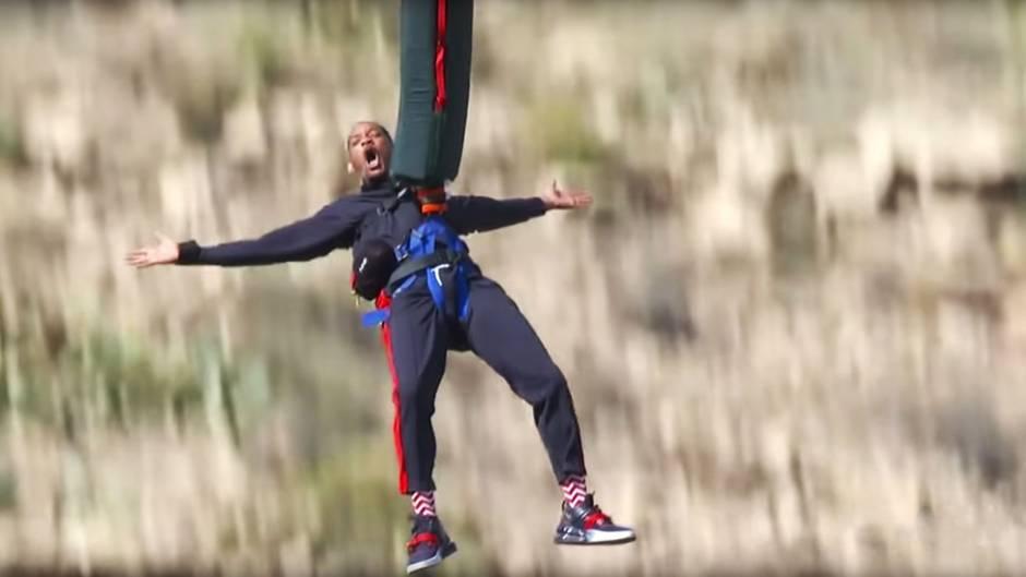 Hollywoodstar: Zum 50. Geburtstag: Will Smith macht Bungee-Stunt über dem Grand Canyon