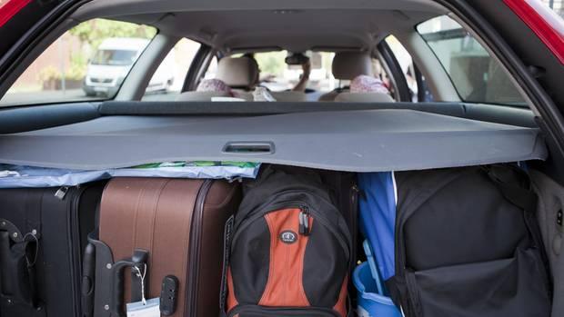 Ein sicher gepackter Kofferraum
