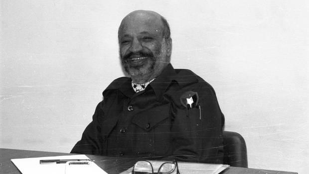 Der ehemaliger Vorsitzender der Palästinensischen BefreiungsorganisationJassir Arafat ohne Kopftuch