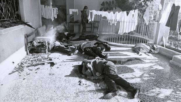 Die Opfer des Massakers von Damur