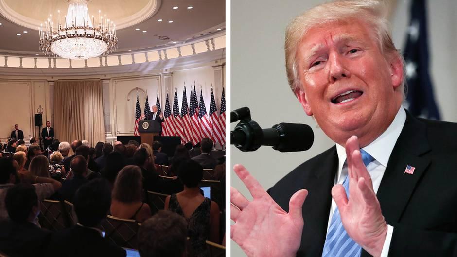 Aussagen zu Kavanaugh: Trump hält wirre Pressekonferenz - und stößt mit Vergleich viele Amerikaner vor den Kopf