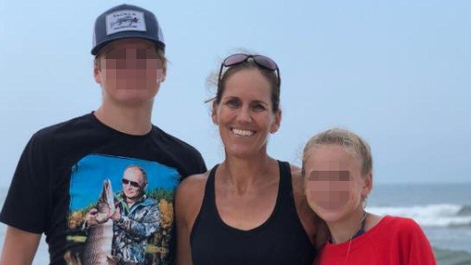 Die ehemalige professionelle Tennisspielerin Stephanie Reece mit ihren beiden Kindern, die ihr Ex-Mann nun tötete