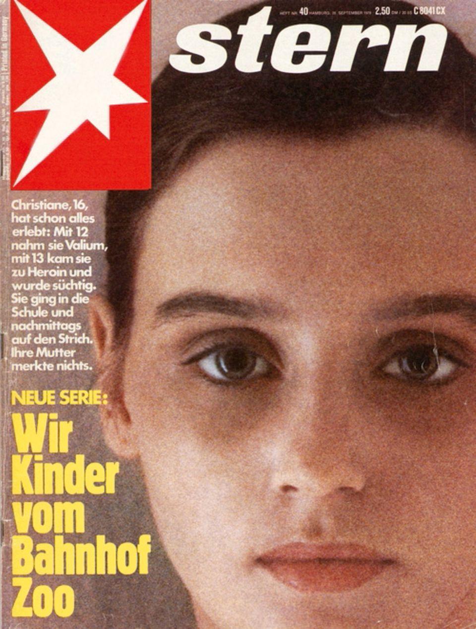 stern-Cover mit Christiane F. zum Start der Serie Wir Kinder vom Bahnhof Zoo