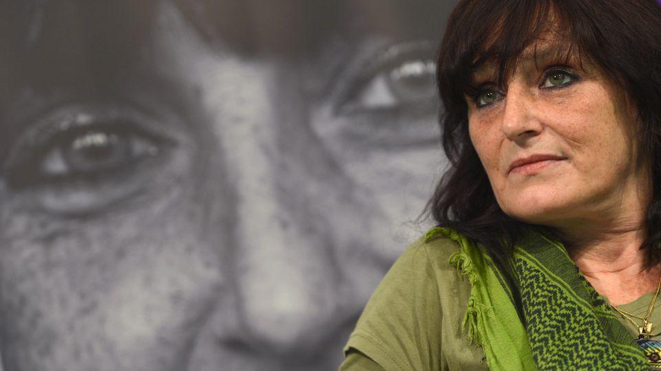 Christiane F. (Felscherinow) auf der Frankfurter Buchmesse, 2013