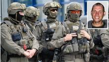 Spezialeinsatzkräfte der Polizei Sachsen und NSU-Terrorist Uwe Böhnhardt