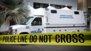 Polizei Absperrung am Tatort