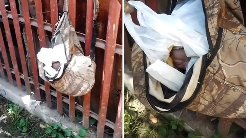 Trauriger Fund mit Happy End: Müllmann entdeckt ausgesetztes Baby in Plastiktüte am Zaun - dann geschieht ein Wunder