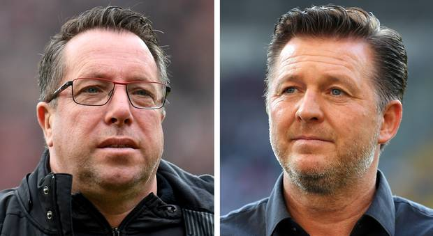 FC-St.-Pauli-Trainer Markus Kauczinski, HSV-Coach Christian Titz