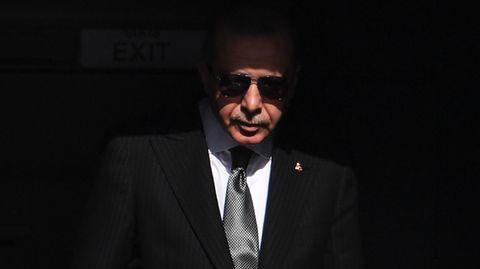 Recep Tayyip Erdogan, Präsident der Türkei, bei seinem Besuch in Deutschland