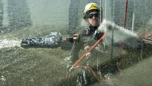 Fensterputzer an der Elbphilharmonie: Dreimal im Jahr kommt die Putzkolonne
