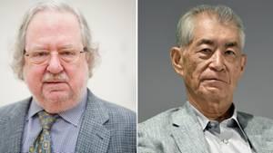Medizin-Nobelpreisträger James P. Allison (links) und Tasuku Honjo