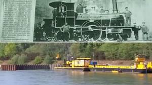 Germersheim: Versunkene Lok im Rhein - Original von 1852 soll gehoben werden