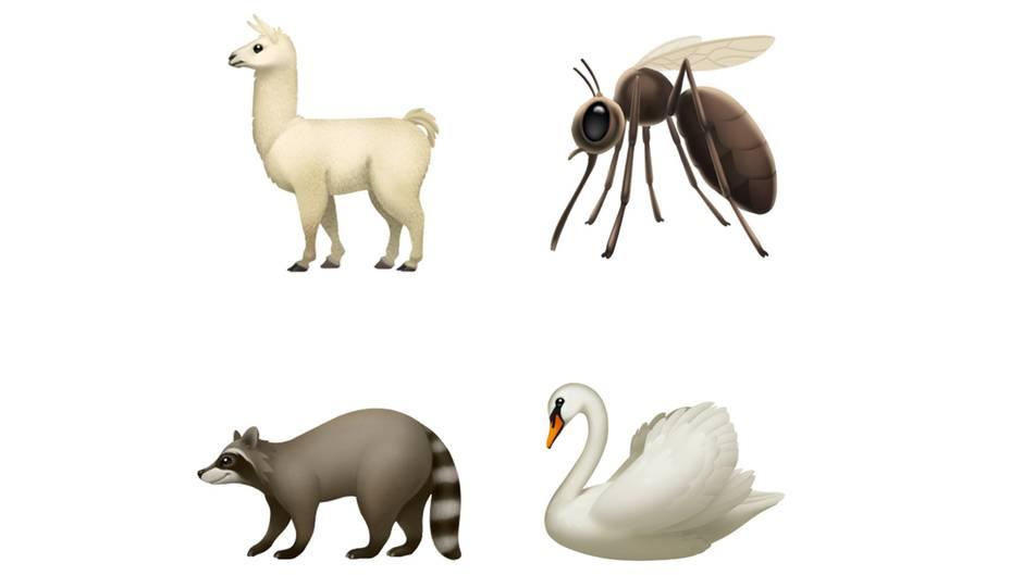 Mit iOS 12.1 kommen neue Tiere in die Emoji-Datenbank, etwa Lamas, Waschbären und Schwäne.