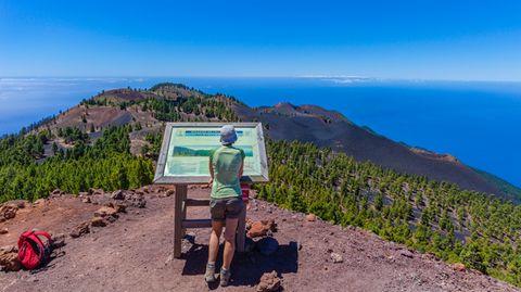 Weitsicht vomMirador de las Deseadas auf La Palma
