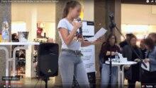 Ida-Marie beim Poetry Slam in Speyer