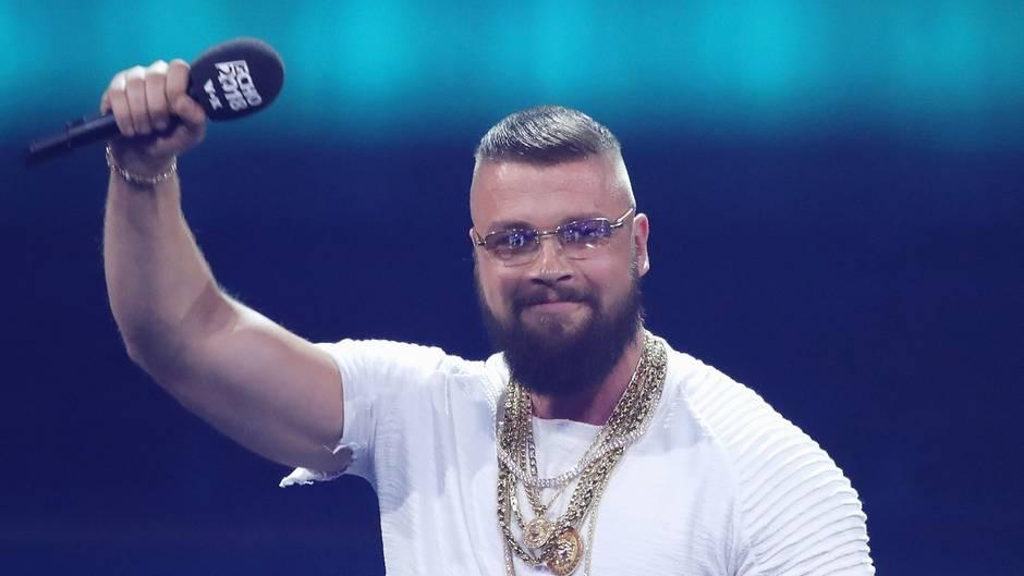Der Düsseldorfer Rapper Felix Blume alias Kollegah bei der Echo-Verleihung im April
