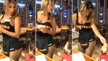 Hooters-Restaurant: Kleinkind mit Schnuller greift Kellnerin an den Po – die nimmt es mit Humor