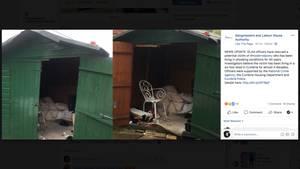 Aufnahmen der Hütte, in der das Opfer gefunden wurde