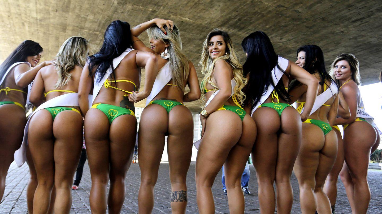 "Kandidatinnen des ""Miss Popo""-Wettbewerbs in Brasilien. Das ""Brazilian Butt Lifting"" ist hier beliebt."