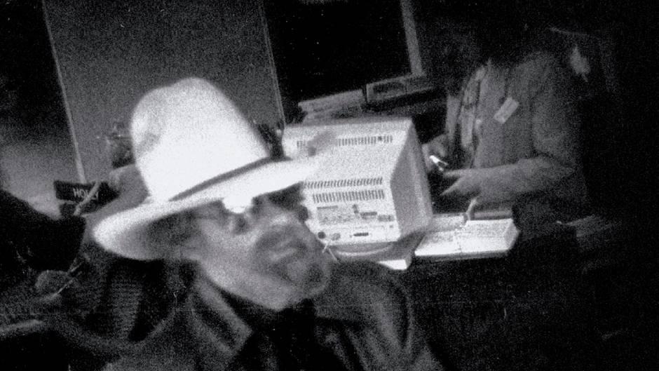Aufgenommen während eines Banküberfalls 1992