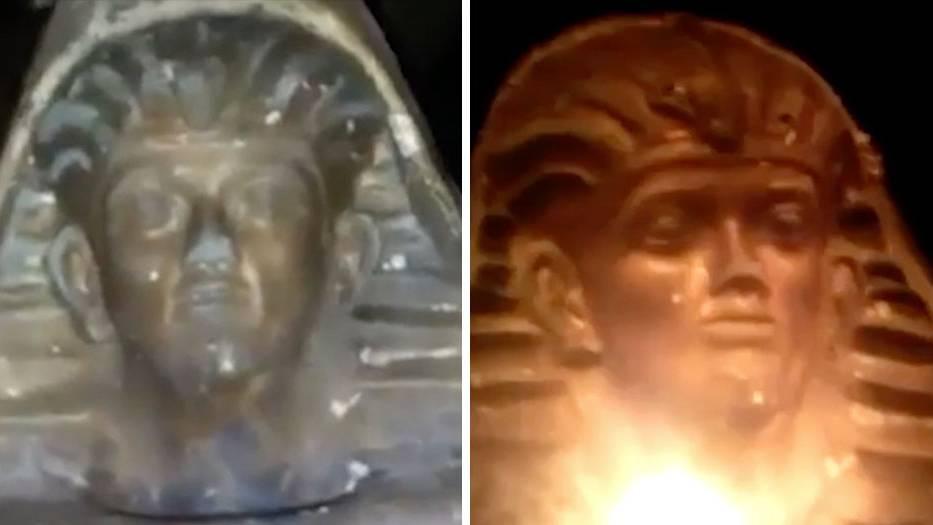 Optische Täuschung: Dieser Pharaonenkopf lässt Sie nicht aus den Augen