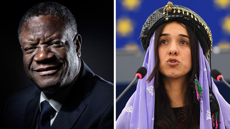 Der kongolesische Arzt Denis Mukwege und die irakische Menschenrechtsaktivistin Nadia Murad bekommen den Friedensnobelpreis 2018. Das gab das norwegische Nobelkomitee am Freitag in Oslo bekannt.