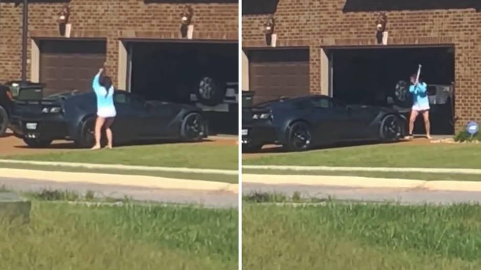 Tennessee: Rache ist süß: Wütende Frau zerstört Corvette ihres Mannes