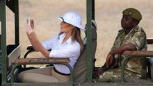 Melania Trump mit Tropenhelm auf Safari in Kenia