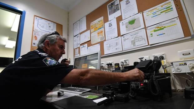 Pursell in seinem Büro im australischen Birdsville