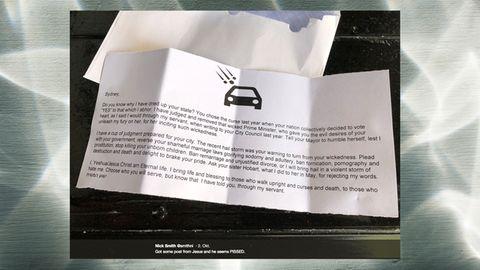 "Australien: ""Jesus"" verteilt homophobe Briefe in Sydney"