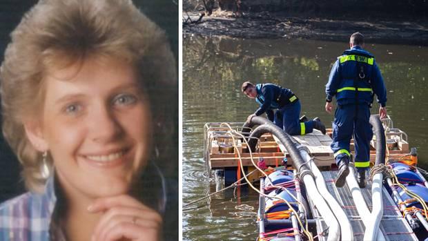 Jutta Fuchs aus Bremen, THW-Mitarbeiter pumpen Wasser aus dem Tietjensee in Schwanewede ab.
