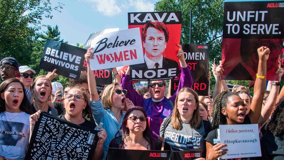 Zahlreiche US-Amerikaner protestierten in den vergangenen Wochen gegen die Nominierung von Brett Kavanaugh