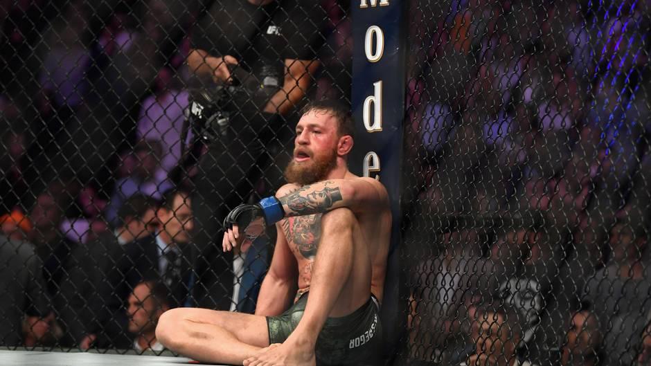 Conor McGregor nach seiner Niederlage gegen den Russen KhabibNurmagomedov