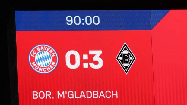 Die Anzeigetafel in der Münchener Allianz Arena