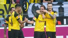 Mario Götze bejubelt sein Tor in der Bundesligaspiel BVB gegen den FC Augsburg