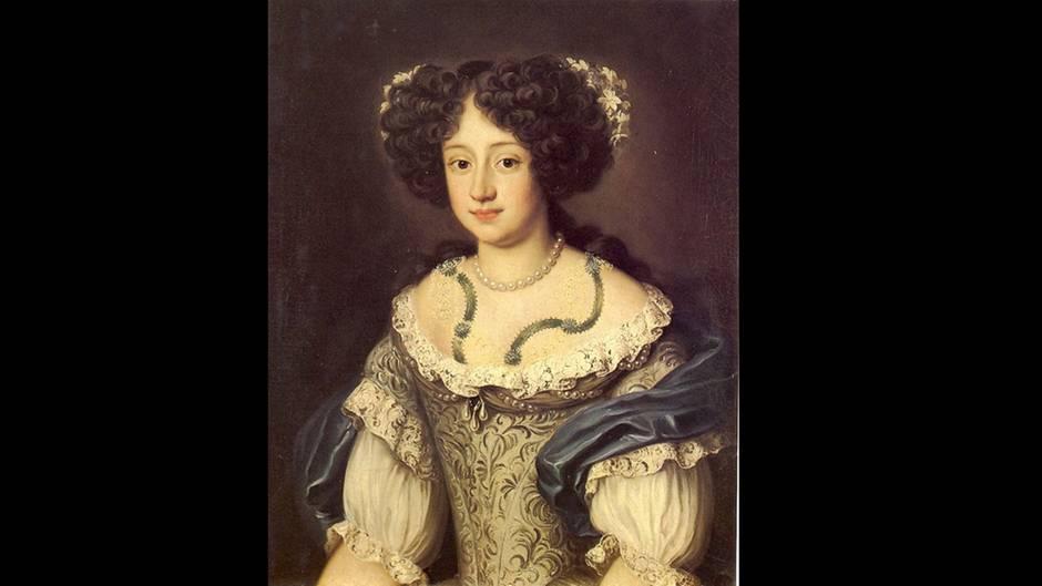 Ein Porträt von Sophie Dorothea als junge Frau