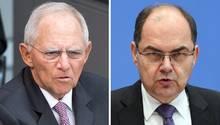 Wolfgang Schäuble, CDU, und Christian Schmidt, CSU