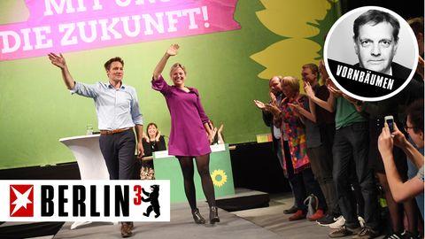 Bayerns Grüne Spitzenkandidaten Katharina Schulze und Ludwig Hartmann