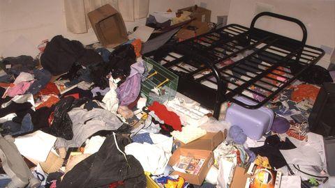 Müll in einer Mietwohnung